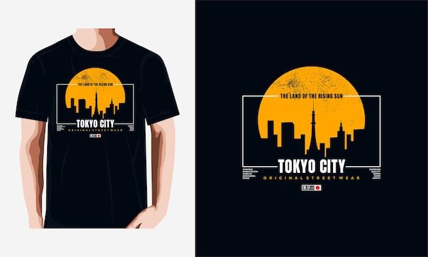 도쿄 티셔츠 및 의류 디자인 프리미엄