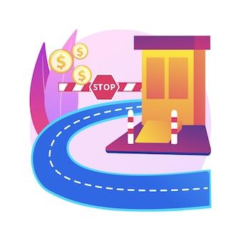 Toll road illustration