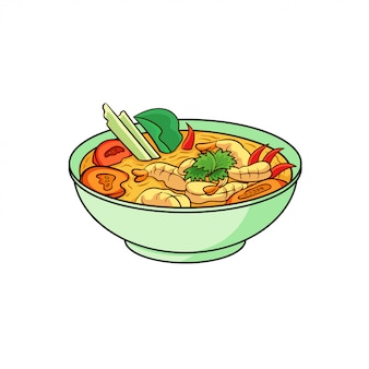 Tom yam is a typical food from thailand