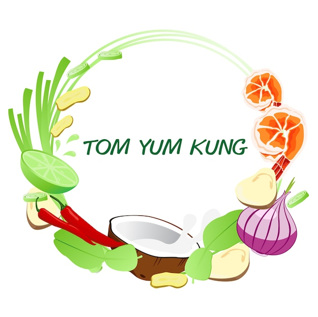 Tom yum kung frame.