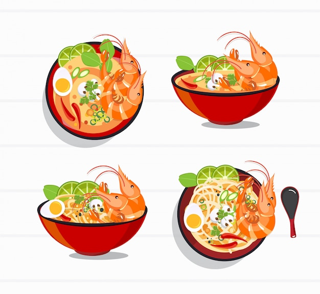 Tom yum kung thai spicy soup , thai food
