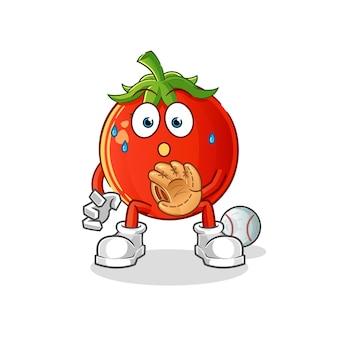 토마토 야구 포수 만화 캐릭터