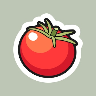 Tomato cartoon sticker