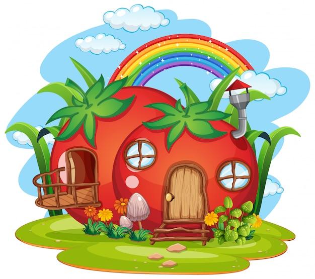 Tomato fairy house