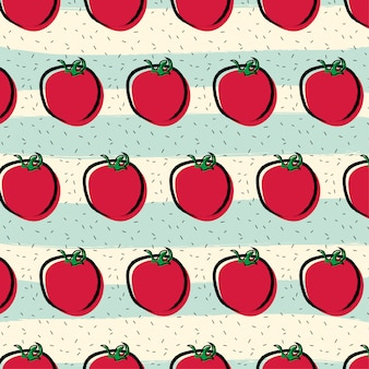 Tomato fruit pattern background
