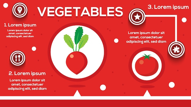 Tomato infographic with steps, options, stats