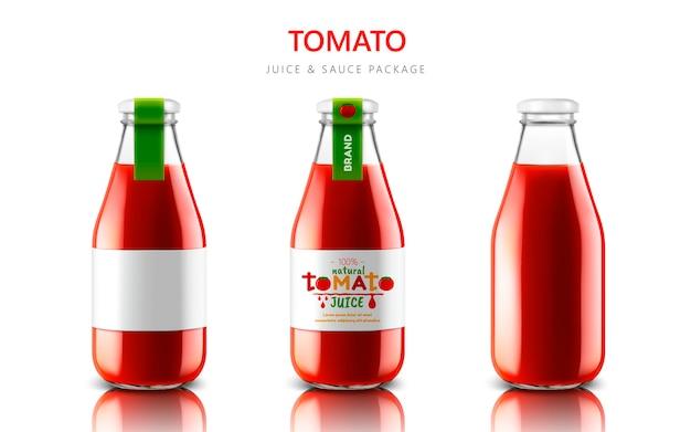 Томатный сок или иллюстрация пакета соуса