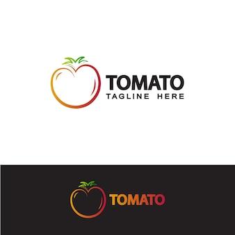 토마토 로고 템플릿 디자인 벡터