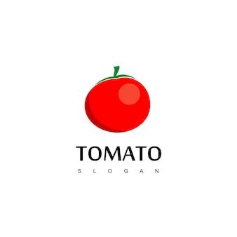 Tomato logo, vegan food label design vector