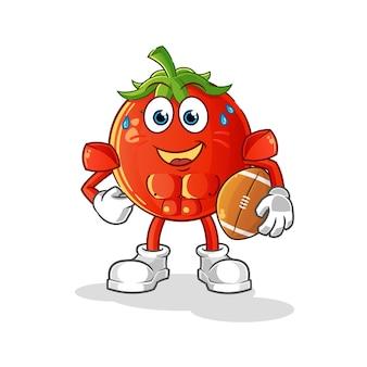 토마토 럭비 만화 캐릭터 재생