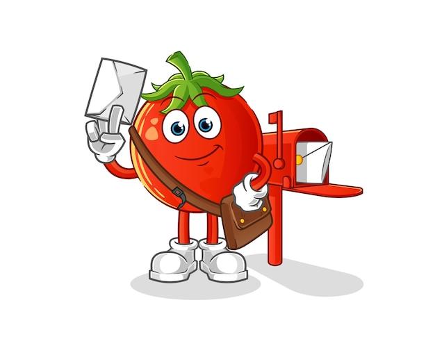 토마토 우편 배달부 만화 캐릭터