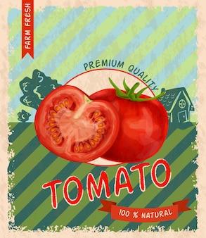 Tomato retro poster