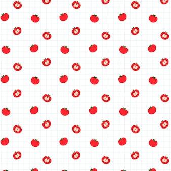 Tomato seamless pattern background