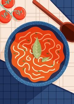 トマトスープ-料理イラスト
