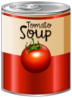 알루미늄 캔에 토마토 수프