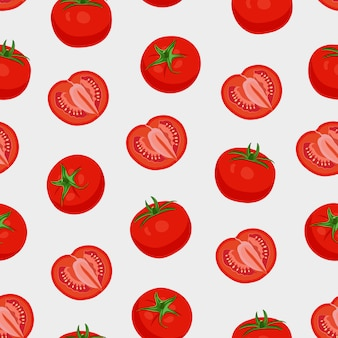 Tomato vegetables seamless pattern