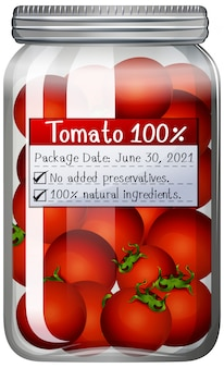 Tomatoes preserve in glass jar