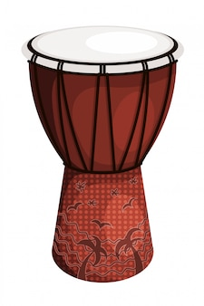 Tomtom drum brown style tribal