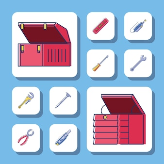 Toolboxes and tools construction repair