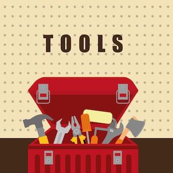 Tools on box