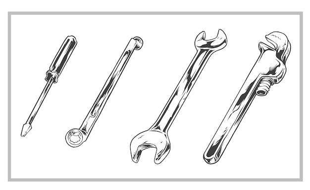 Инструменты оборудование старинные иллюстрации
