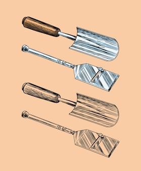 Инструменты для поиска трюфелей с грибами.