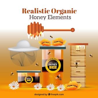 Инструменты для меда, реалистичный стиль