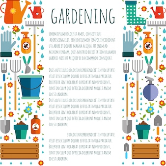 Tools for gardening,