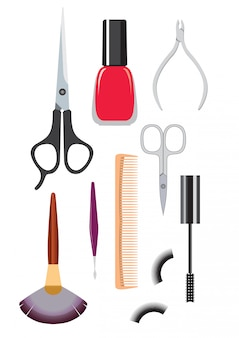 Tools for haircuts and manicure set