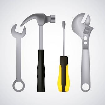 Tools hammer screwdriver key spanner adjustable