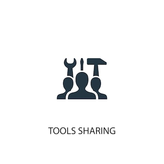 Tools sharing icon. simple element illustration. tools sharing concept symbol design. can be used for web and mobile.