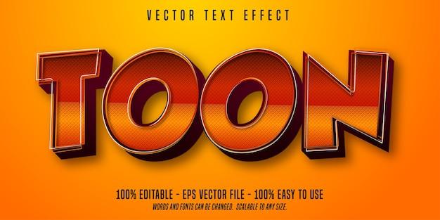Toon cartoon style editable text effect