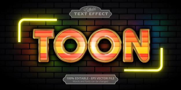 Toon text, editable text effect