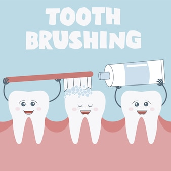 Tooth brushing background