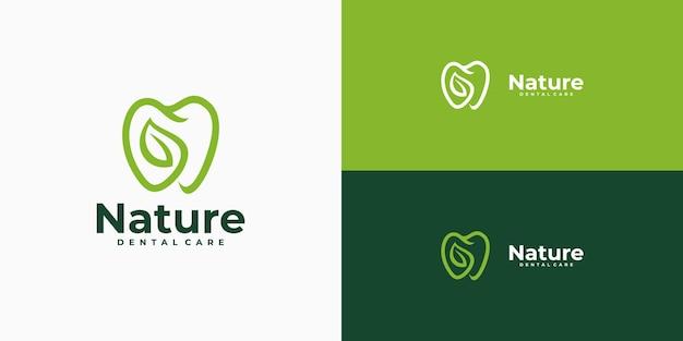 Идея дизайна логотипа зубного листа
