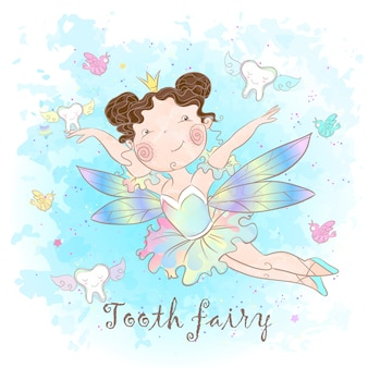 Tooth fairy is a fabulous creature. nice style. teeth. dentistry.