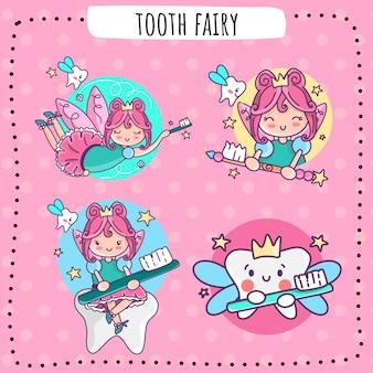 Зубная фея логотип значок