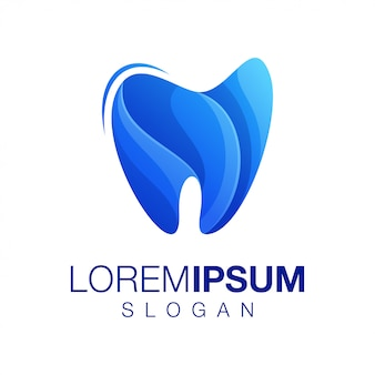 Tooth gradient color logo