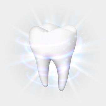 白い背景の上の歯、テンプレートデザイン要素、ベクトル図
