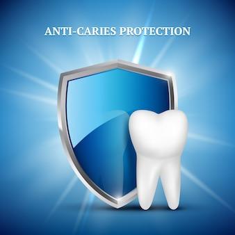 Защита зубов. стоматологическая концепция зубов стоматологии здоровой охраны медицинской концепции иллюстрации