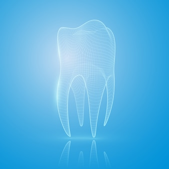 Tooth reconstruction concept.
