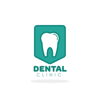 Tooth vector logo for dental clinic template