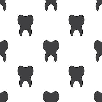 歯、ベクトルのシームレスなパターン、編集可能webページの背景、パターンの塗りつぶしに使用できます