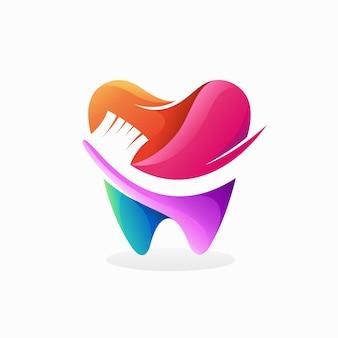 Зубная боль логотип с концепцией зуба