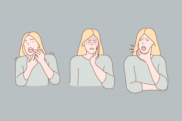 Toothache symptoms illustration