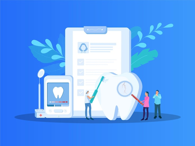 Toothaches vector illustration dental problem and oral treatment concept