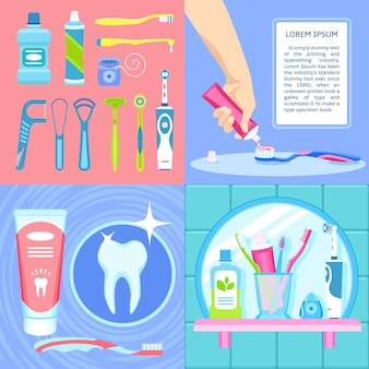 Toothbrush background set.