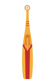 歯ブラシの歯のシンボル。口の掃除道具。ウェブ用の歯ブラシ歯科分離アイコン。口腔ケアと衛生、ヘルスケアの概念。手描きの色のベクトル図