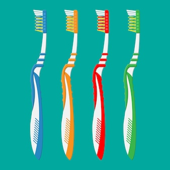 Toothbrush in different colors. tooth brush icon