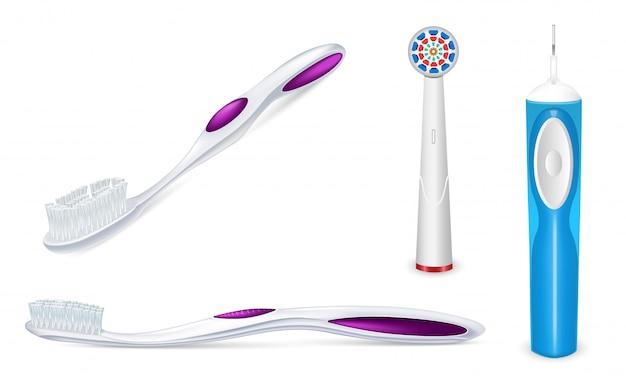 Toothbrush icon set